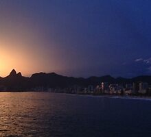 Ipanema Sunset by Gillian  Ford