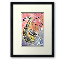 Saxophone Notes Framed Print
