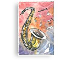 Saxophone Notes Canvas Print
