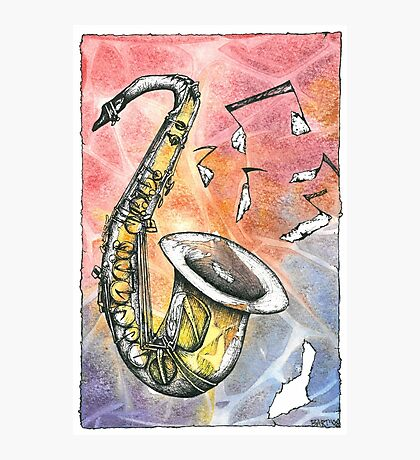 Saxophone Notes Photographic Print