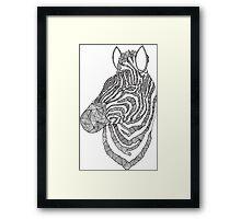 Zebra Ink Framed Print