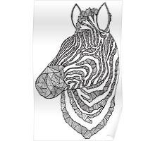 Zebra Ink Poster