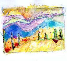 Golden Hills by Diane  Kramer
