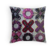tic tac toe Original art work Throw Pillow