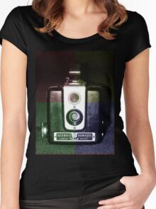 Colorful Brownie Hawkeye Women's Fitted Scoop T-Shirt