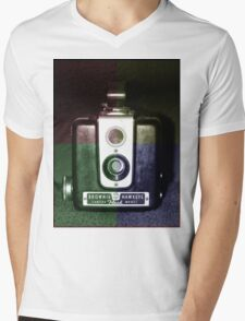Colorful Brownie Hawkeye Mens V-Neck T-Shirt