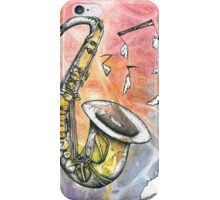 Saxophone Notes iPhone Case/Skin