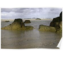 Rocks on the beach Poster