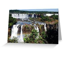 Iguazu Falls in Love Greeting Card