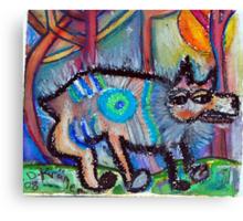 Hippie Dog Canvas Print