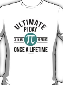 Ultimate Pi Day 2015 Aqua T-Shirt