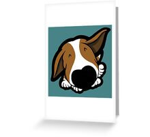 Big Nose Bull Terrier Puppy Greeting Card