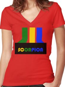 SCORPION (atari style)  Women's Fitted V-Neck T-Shirt