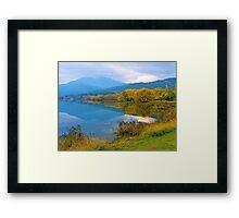 Autumn, Pondage, Mt Beauty, Victoria. Framed Print