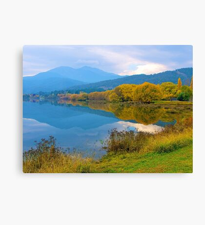 Autumn, Pondage, Mt Beauty, Victoria. Canvas Print