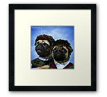 step pugs Framed Print