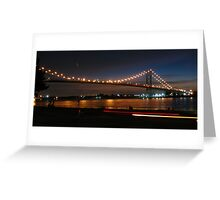 Ambassador bridge with ligt trails Greeting Card
