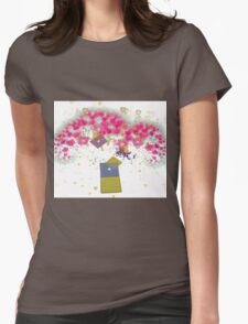 Love Blossoms Womens Fitted T-Shirt