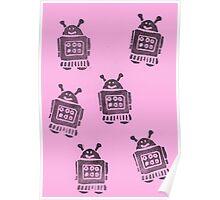 Pink Robots Poster