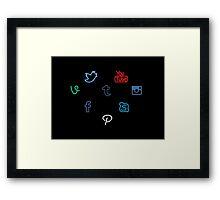 I Heart Social Media Framed Print