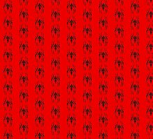 Spider-Man Segmented Logo (Red Background, Pattern 2) by JoshBeck