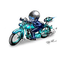 MOTORCYCLE HARLEY STYLE Photographic Print
