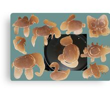 Animal pancakes Canvas Print