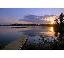 Summer sunrise on Echo Lake Photographic Print