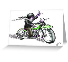 HARLEY STYLE BIKER MOTORCYCLE Greeting Card