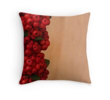 Pyracantha Berries Throw Pillow