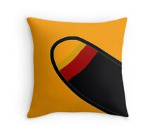 YELLOW, RED, BLACK, abstract, modern Throw Pillow