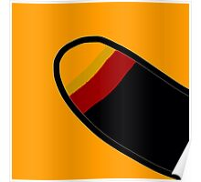 YELLOW, RED, BLACK, abstract, modern Poster