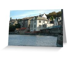 Waterfront houses in South Queensferry Greeting Card