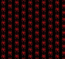 Spider-Man Segmented Logo (Red on Black, Pattern 2) by JoshBeck