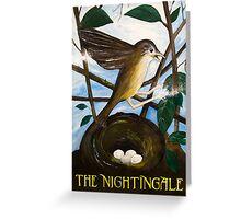 nightingale pub sign Greeting Card