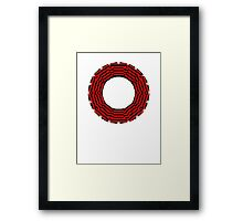ring-o-t-shirts black and red Framed Print