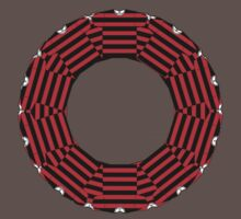 ring-o-t-shirts black and red Kids Clothes
