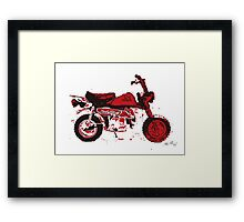 MONKEYBIKE STYLE MOTORCYCLE FUN Framed Print