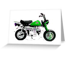 Honda z50 style motorcycle Greeting Card