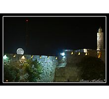 The moon over the walls Photographic Print