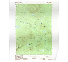 Maine USGS Historical Map Jo-Mary Mountain 105246 1988 24000 Poster