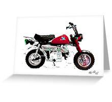 HONDA Z50 STYLE DESIGN Greeting Card