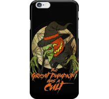 Cult of the Great Pumpkin: Witch Mask iPhone Case/Skin