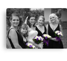 Bridesmaids Selective in Colour Canvas Print
