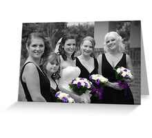 Bridesmaids Selective in Colour Greeting Card