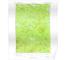 Maine USGS Historical Map Jo-Mary Mountain 460500 1952 62500 Poster