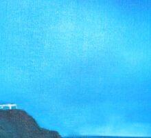 CapeByron Lighthouse - Original oil on canvas Sticker