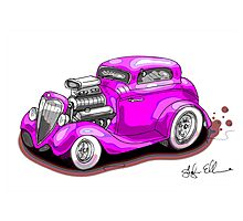HOT ROD BEAST PINK Photographic Print
