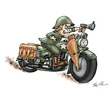 HARLEY STYLE MOTORCYCLE WLA Photographic Print