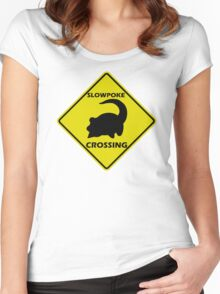 Slowpoke Crossing Sign Women's Fitted Scoop T-Shirt